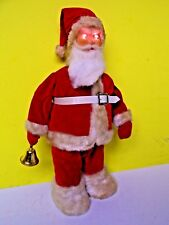 STELLAR Vintage TIN HOUSE TOYS JAPAN BATTERY Operated Evil RED EYE Santa Claus