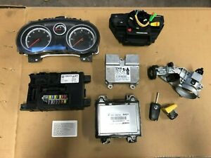 VAUXHALL CORSA D 1.2 PETROL A12XER ENGINE ECU KIT 55583740 WITH CAR PASS #S