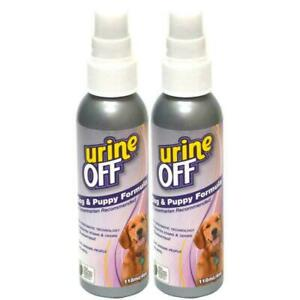 2 x Urine Off Dog and Puppy Spray for Hard Surfaces 118ml Remove Old Fresh Stain