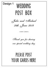 Wedding Post Box Sign A5 Size