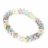 Neu Damen Kristall Faceted Loose beads Armband Stretch Bangle Schmuck