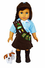 Brownies Outfit For American Girl Dolls-Skirt With Sash