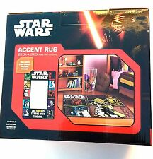 """STAR WARS Accent Rug &  Picture Frame New in Box 26"""" x 39"""" Yoda, CP3O, Chewbacca"""