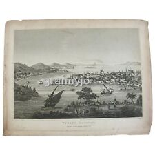 Copperplate Engraving of Constantinople Turkey by John Pass Original 1828