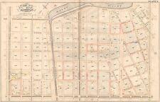 FRONT STREET ATLAS MAP 1883 NEW ORLEANS LOUISIANA DELACHAISE PARK RAMPART ST
