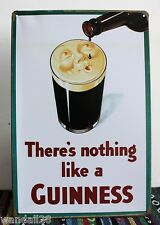 Nothing Like GUINNESS Stout Metal Tin Sign Tarvern Bar Pub Brewery Decor Advert