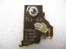 Lions Club Pin R. I. 42 Extend a Hand to Your Fellow Man Vintage Collectible