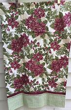 New Handmade Pair Standard Green Burgundy White Floral Poinsettia Pillowcases