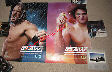 WWE RAW SIGNED AUTOGRAPHED 2005 5ft promotional poster Carlito Triple H