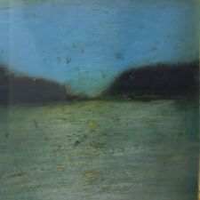 "L. WRIGHT (Amer): Tonalist Mixed Media ""Golden Linings Seascape"" Ca 1991 Framed"