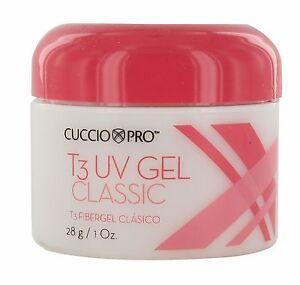 Cuccio T3 Fiber Gel Classic European flexible sculpting gel 3 colors 1oz (28g)
