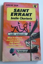 Leslie Charteris - Saint Errant - Pan Books G522  1962   Vintage P/B
