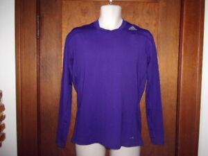 NWT. Adidas techfit Compression Base layer Climalite Long Sleeve purple shirt.