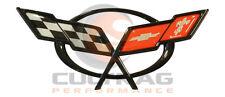 1997-2004 C5 Corvette Genuine GM Rear Deck Lid Cross Flags Emblem 19207385