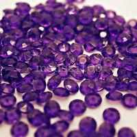 Dark Purple Wedding Table Decorations Crystal Diamond Acrylic Confetti Party Gem