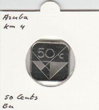 Aruba 50 cents 2001 BU - KM4