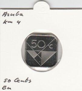 Aruba 50 cents 2002 BU - KM4