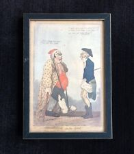 """Isaac Cruikshank """"Consolation in the Gout"""" Print"""