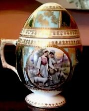 ANTIQUE RUSSIAN IMPERIAL Porcelain EASTER EGG  Shaped CUP  Kuznetsov  XB