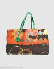 M MISSONI MULTICOLOUR CANVAS AND LEATHER TOTE SHOPPER BEACH BAG BNT PERFECT GIFT