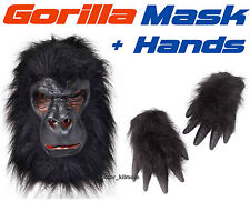 Gorilla Kit: Máscara Y Manos Ape Monkey Fancy Dress Costume