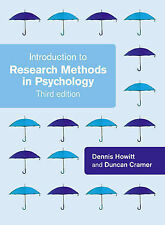 Introduction to Research Methods by Duncan Cramer, Dennis Howitt (Paperback, 20…