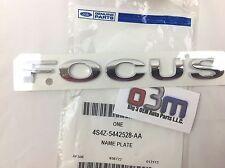 2005-2007 Ford Focus Rear Chrome Trunk Lid Focus Emblem Nameplate new OEM