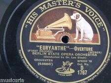 """78rpm 12"""" EURYANTHE OVERTURE blech - berlin state opera D 1767"""