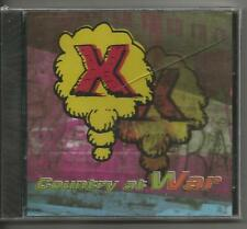 X - Country at War SEALED CD EP 3 trx You Wouldn't Tell Me + Drown in the Dark