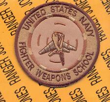 USN Navy FWS Fighter Weapons School 3 inch desert pocket patch