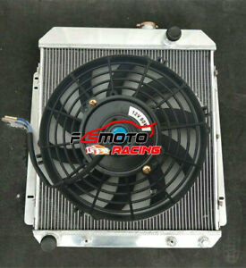 FOR Buick Special Roadmaster Century Super 1954-1956 55 V8 3 ROW Radiator+Fan AT