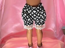 BLACK & WHITE Bloomers Panties Fits Wellie Wishers, Les Cheries, H4H  BL03