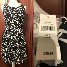 GAP NWT BLK/ WHITE DRESS SIZE 12 Summer Sleeveless FAB RRP £39.99