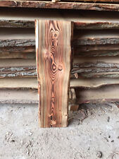 Baumscheibe, Brett, Bohle, rustikal, unbesäumt Lärche, geflammt, Massivholz80cm