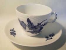 ROYAL COPENHAGEN BLUE FLOWERS BRAIDED CUP AND SAUCER #8261 FIRST QUALITY