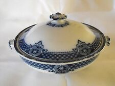 Flow Blue Windsor Pottery Longton 1900 Eric CWS Co Operative Tureen 10""