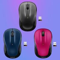 Logitech M325 Adapter Maus wireless Optical Mouse USB 3 Buttons 1000 DPI 2.4GHz