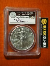 2011 S SILVER EAGLE PCGS MS70 MERCANTI SIGNED FROM THE 25TH ANNIVERSARY SET