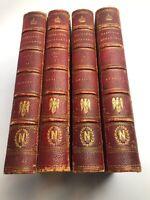 William Hazlitt The Life Of Napoleon Bonaparte 4 Volumes Gold Leafed 2nd Ed 1852