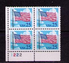 Us Usa Sc# 2278 Mnh Fvf Plate # Block Flag Flagpole Clouds
