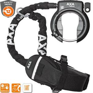AXA Defender Rahmenschloss inkl. Einsteckkette RLC 100 & Tasche