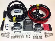 2mtr Kit de relé de carga dividida 12v Relé de alimentación inteligente 140amp M cables 110amp