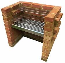 Heavy Duty Stainless Steel Charcoal DIY Brick BBQ Kit 6mm & Warming Grill