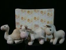 Precious Moments-Donkey-Camel-Cow- Mini Nativity Additions-Set Of 3