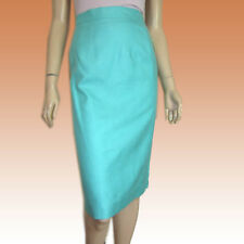 New $161 WOVEN SILK Professional Skirt Sz 16 in SEAFOAM by Ann May - Straight