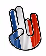 L'horreur main avec la france french pays drapeau vinyle autocollant voiture décalque