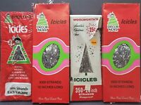 Mixed lot of New Vintage Christmas Tree Icicle Tinsel Decor Noel and Woolworths