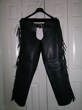 Fringed Motorcycle Chaps, XL
