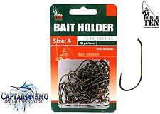 Bronzed Bait Holder Fishing Hooks Size 84pcs Force Ten Tackle 8364