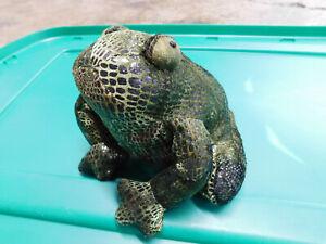 "6"" Russ Berrie Flemington Frog Toad Zonies Earth Zone Bean Shiny Plush Sewn Eyes"